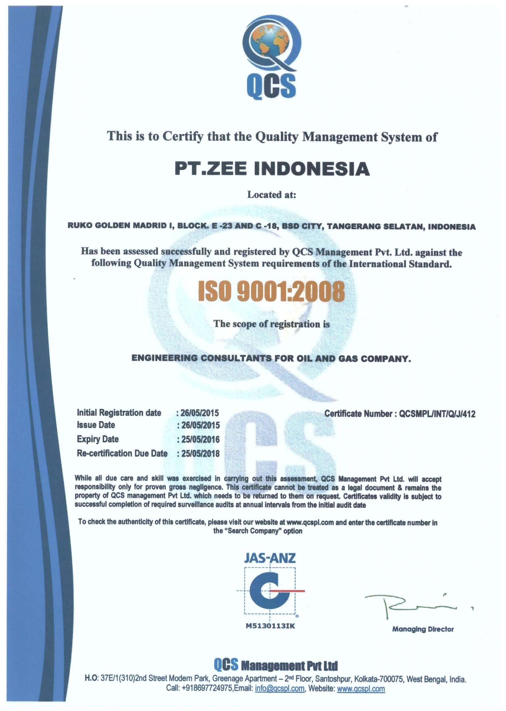 ZEE Jakarta ISO